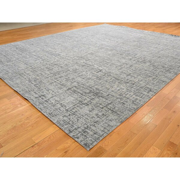 One-of-a-Kind Dowsing Hand-Knotted Gray 12'1 x 15'3 Area Rug