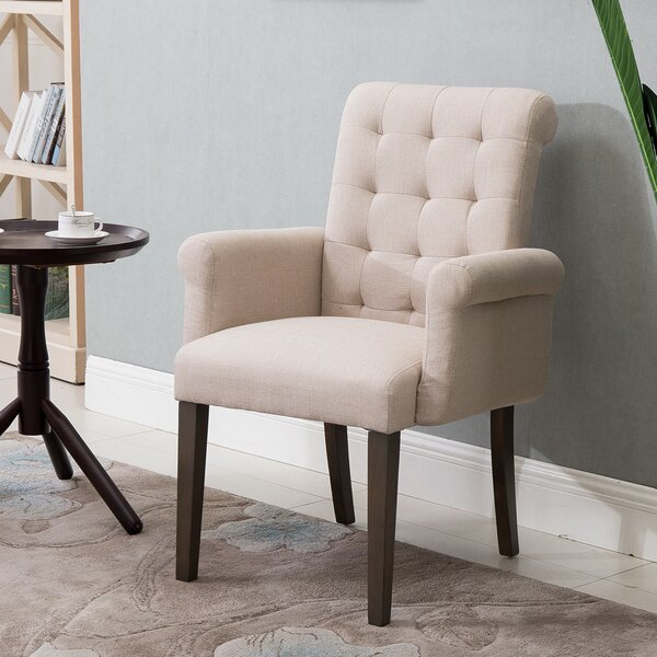 Shuaib Tufted Linen Upholstered Wingback Arm Chair By Red Barrel Studio