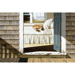 Beach House Dog Painting Print on Wrapped Canvas by East Urban Home