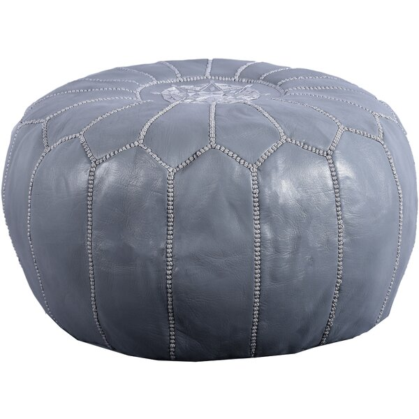Chasse Leather Pouf By Bungalow Rose