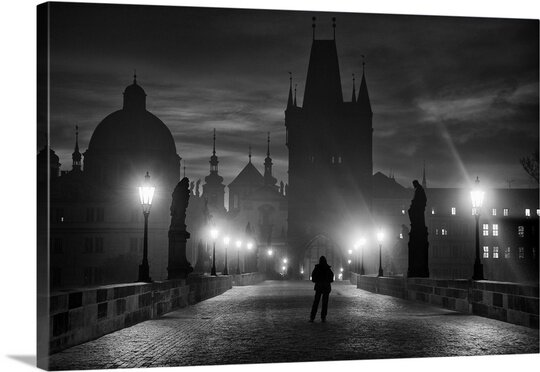 Prague in Black and White by Marcel Rebro Photographic Print on Canvas by Canvas On Demand