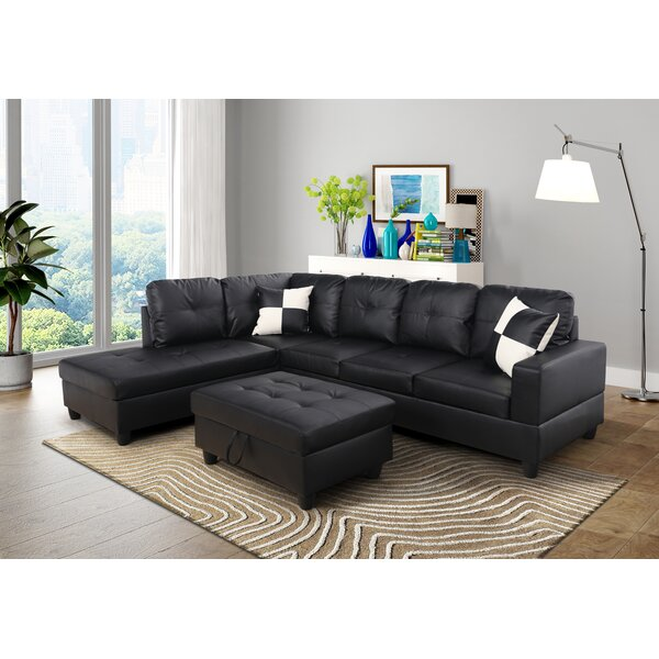 Southworth Sectional with Ottoman by Ebern Designs