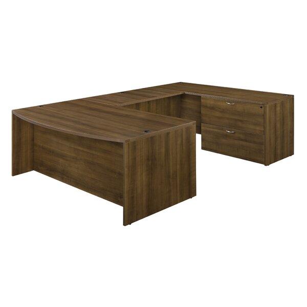 Fairplex Right / Left Lateral File Pedestal U-Shape Executive Desk by Flexsteel Contract