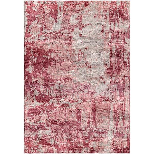 Ashford Handloom Red/Beige Area Rug by Ivy Bronx