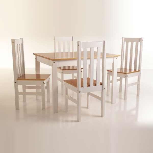 Willeford Complete 5 Piece Solid Wood Dining Set by Red Barrel Studio