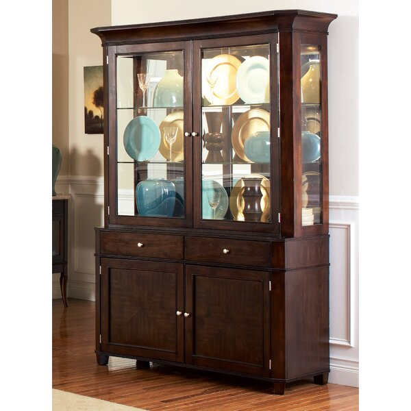 - Darby Home Co Swenson Lighted China Cabinet Hutch & Reviews Wayfair