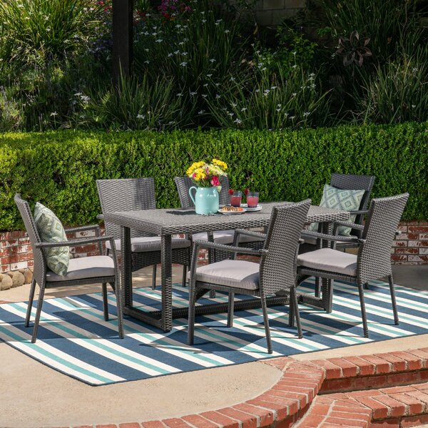 Brucker 7 Piece Dining Set with Cushions