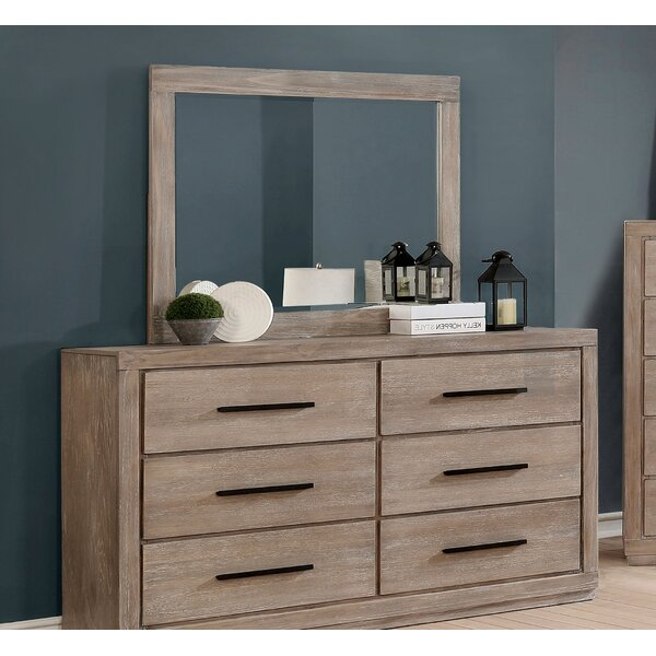 Mcmillen Weathered 6 Drawer Double Dresser with Mirror by Gracie Oaks