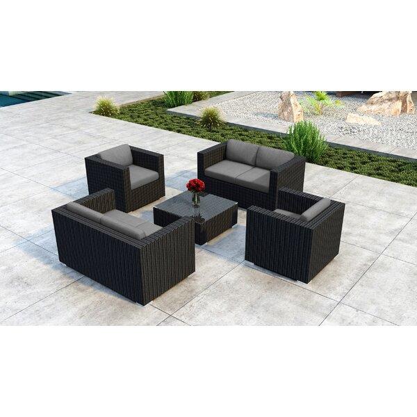 Glendale 5 Piece Sofa Set with Sunbrella Cushion by Everly Quinn