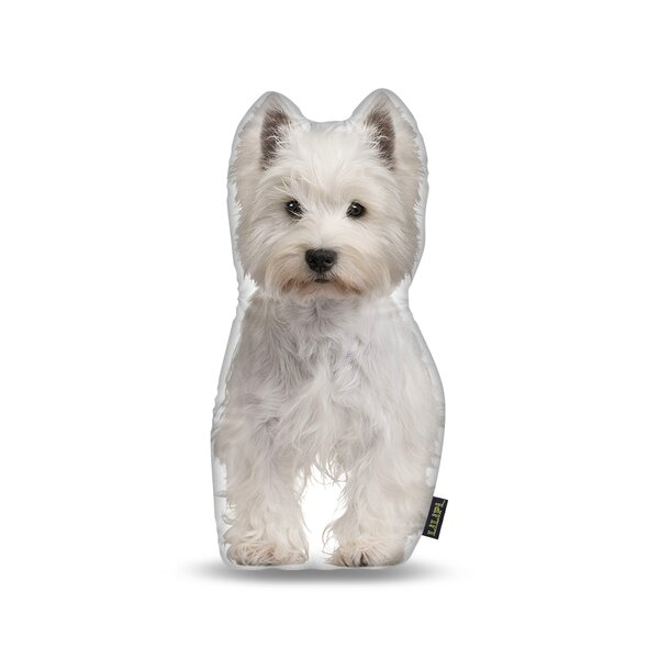 Highland Terrier Throw Pillow by East Urban Home