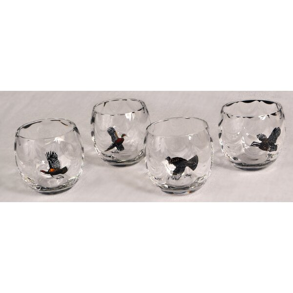 Gamebird 11 Oz. Optic Roly Poly Glass (Set of 4) by Richard E. Bishop