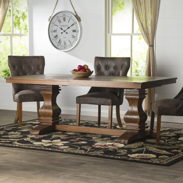 Derwent Solid Wood Dining Table by Three Posts Three Posts
