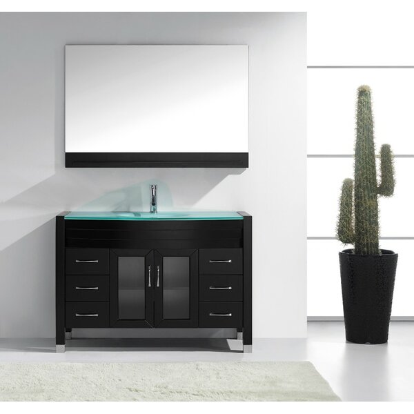 Cartagena 48 Single Bathroom Vanity Set with Mirror by Mercury Row