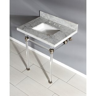 Best Deals Templeton Stone Rectangular Undermount Bathroom Sink with Overflow ByKingston Brass