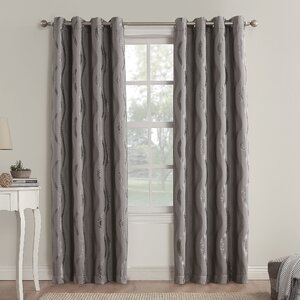 Alfred Geometric Blackout Grommet Single Curtain Panel