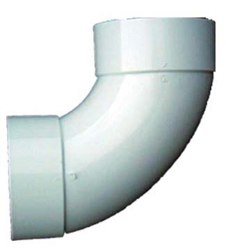 4 PVC 90 Sanitary Elbow by GenovaProducts
