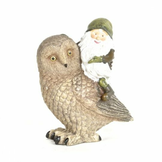 Keansburg Gnome and Owl Figurine by August Grove