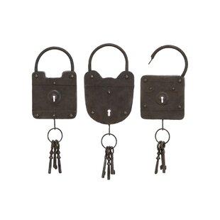 Metal Key Wall Décor Set (Set Of 3)