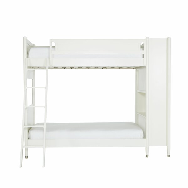 Mid-Century Youth White Library Bunk Bed by DwellS