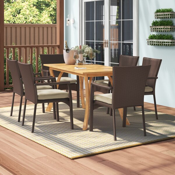 Hodges 6 Piece Dining Set Bayou Breeze BBZE5870