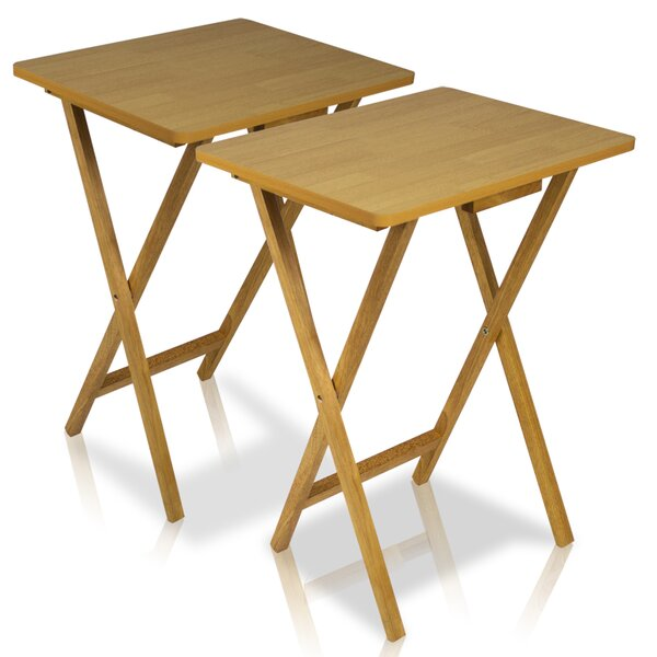 Ivana Folding TV Tray Table Set (Set of 2) by Andover Mills