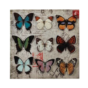 Butterfly Collage Graphic Art by Zingz & Thingz