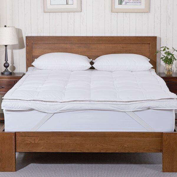 Brennan Premium Goose Down Mattress Pad Bed Topper by Eider & Ivory