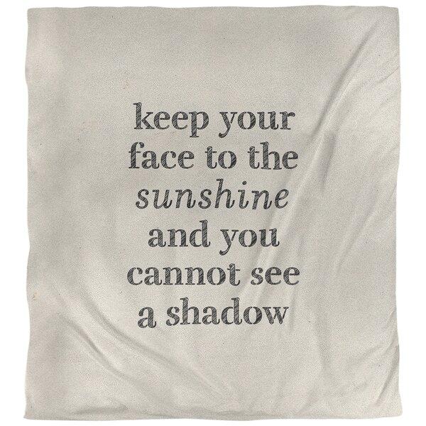 Quotes Handwritten Optimism Inspirational Single Reversible Duvet Cover