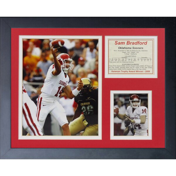 Sam Bradford - Oklahoma Home Framed Memorabilia by Legends Never Die