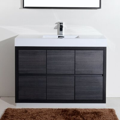 tenafly 48 single free standing modern bathroom vanity set