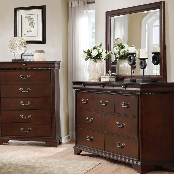 Fenwick Landing 7 Drawer Double Dresser with Mirror by Darby Home Co