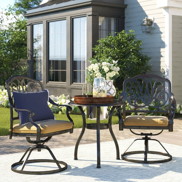 Lebanon 3 Piece Bistro Set with Cushions by Three Posts