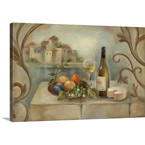 'Vino Blanco' by Silvia Vassileva Painting Print on Canvas by Canvas On Demand