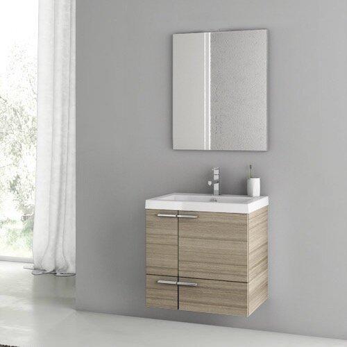 Letourneau 24 Single Bathroom Vanity Set with Mirror