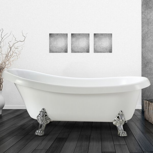Clermont 63 x 28 Soaking Bathtub by Vinnova
