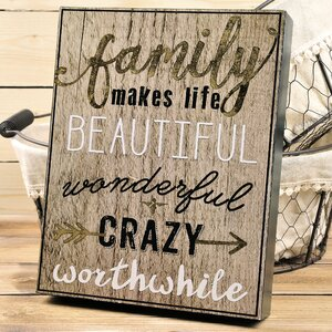'Family Makes' Textual Art by August Grove