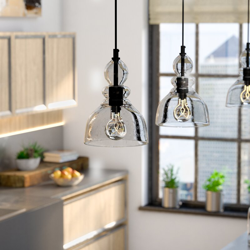 Three Light Mini Pendant Kitchen Lighting