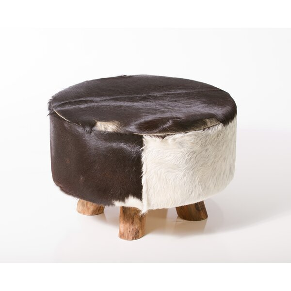 Sayer Leather Ottoman by Union Rustic Union Rustic