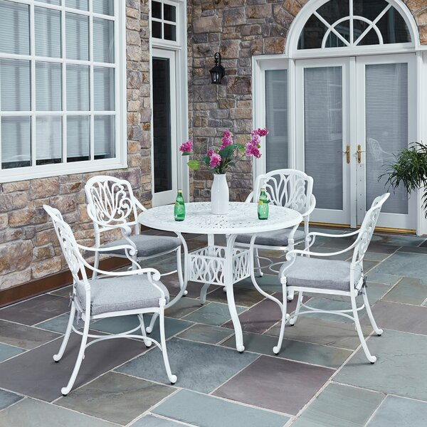 Yates 5 Piece Dining Set With Cushions By One Allium Way