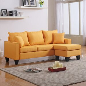 Janna Reversible Sectional : yellow sectional - Sectionals, Sofas & Couches