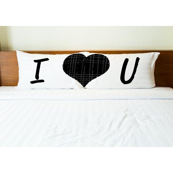 I Heart You 2 Piece Pillowcase Set by One Bella Casa