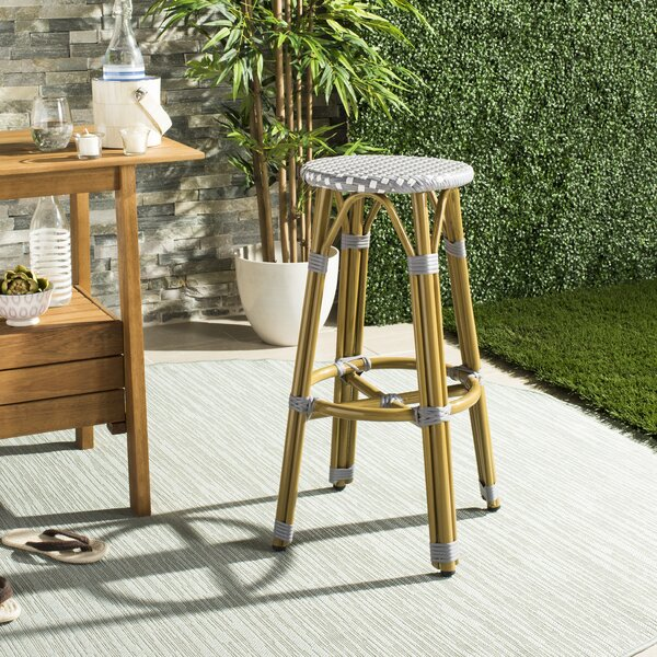 Evie 30 Patio Bar Stool by Bungalow Rose