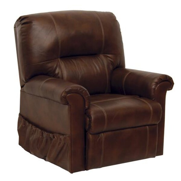 Neston Full Lay-Out Leather Power Lift Assist Recliner Red Barrel Studio W001722236