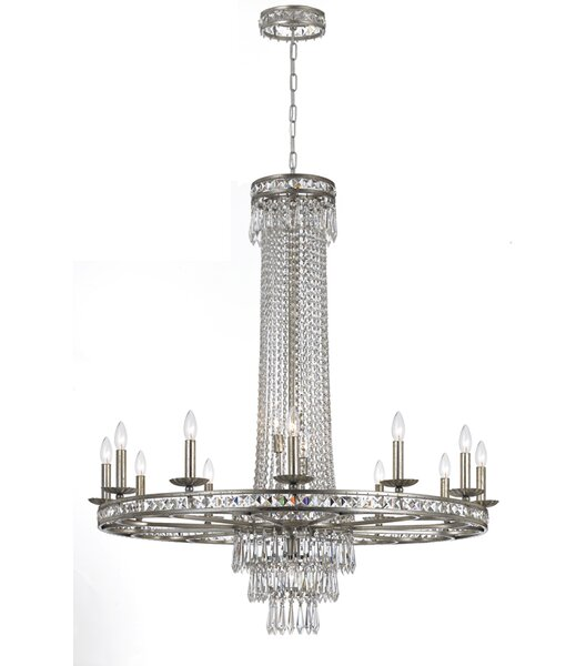 Markenfield 16-Light Candle Style wagon Wheel Chandelier by Astoria Grand Astoria Grand