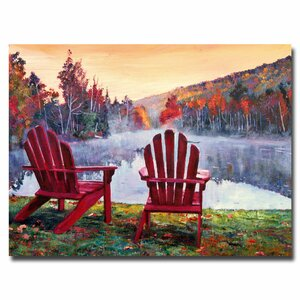 'Vermont Romance' by David Lloyd Glover Framed Painting Print on Wrapped Canvas by Trademark Fine Art