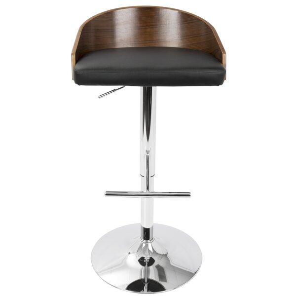 Montross Adjustable Height Swivel Bar Stool by Wade Logan