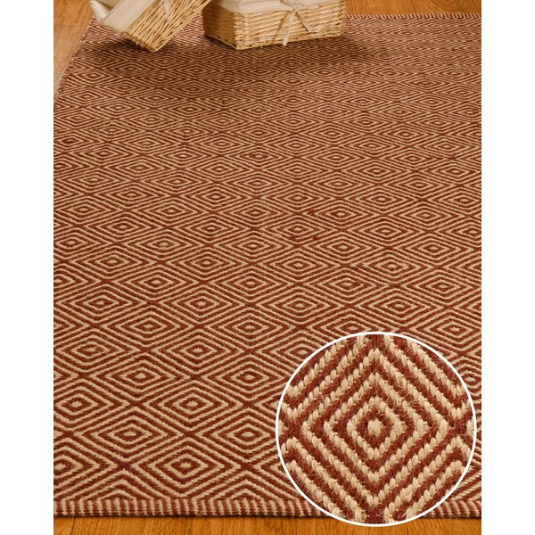 Jute Retro Cream / Red Area Rug by Natural Area Rugs
