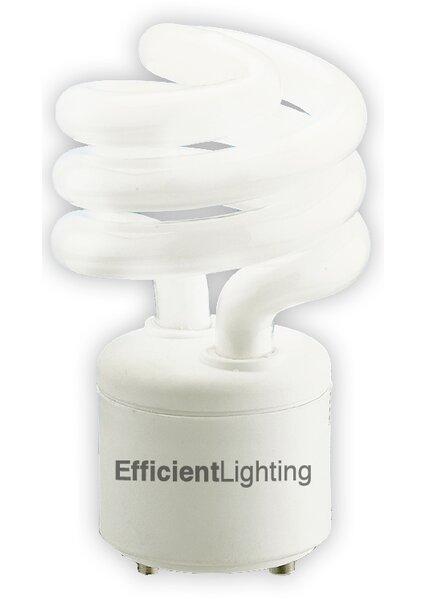 GU24 Compact Fluorescent Spiral Light Bulb by Efficient Lighting