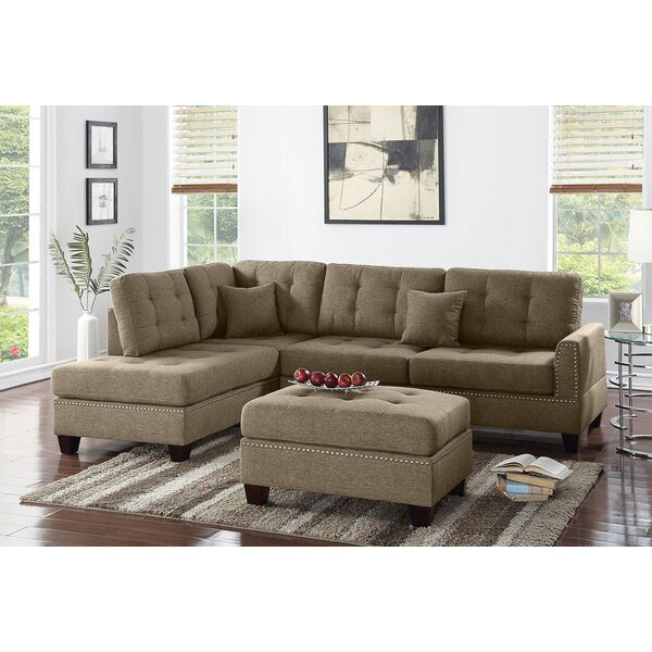 Romulus Sectional with Ottoman by Alcott Hill