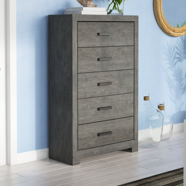 Rosen 5 Drawer Standard Dresser/Chest by Beachcrest Home